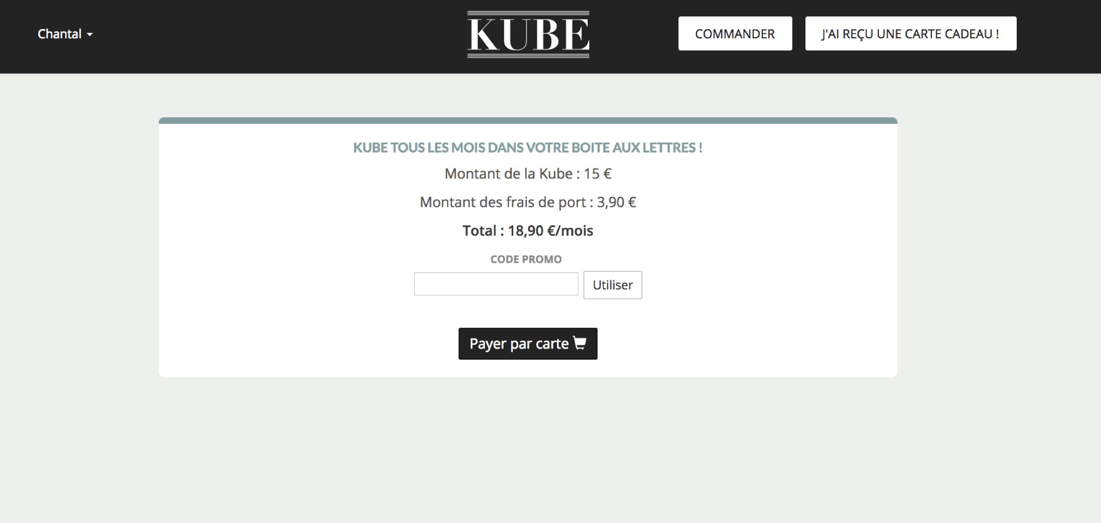 comment utiliser un code promo kube