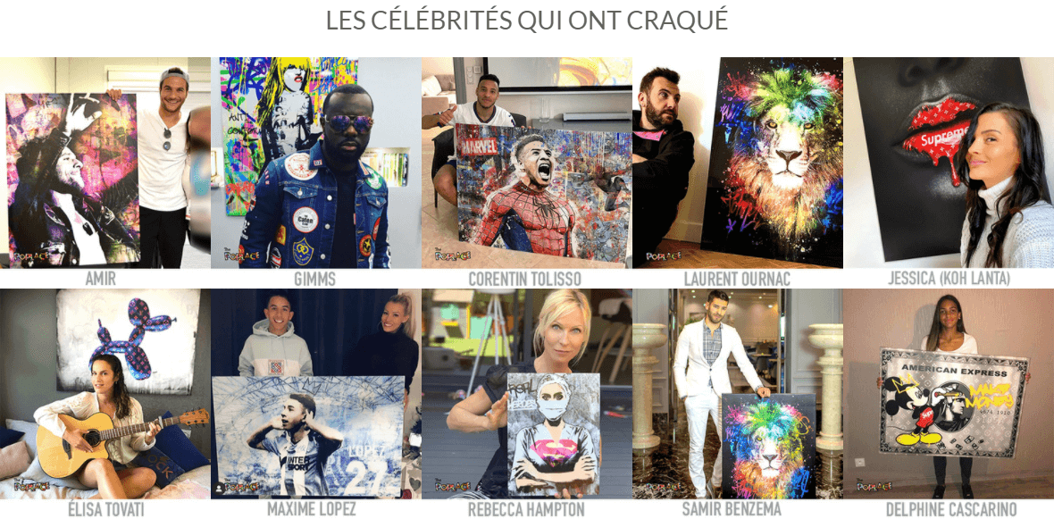 celebrités the poplace