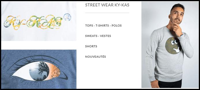 streetwear homme ky-kas